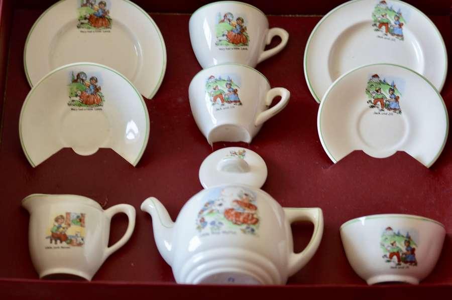 A Delightful Early 20th Century Art Deco Period Child's Tea Service,