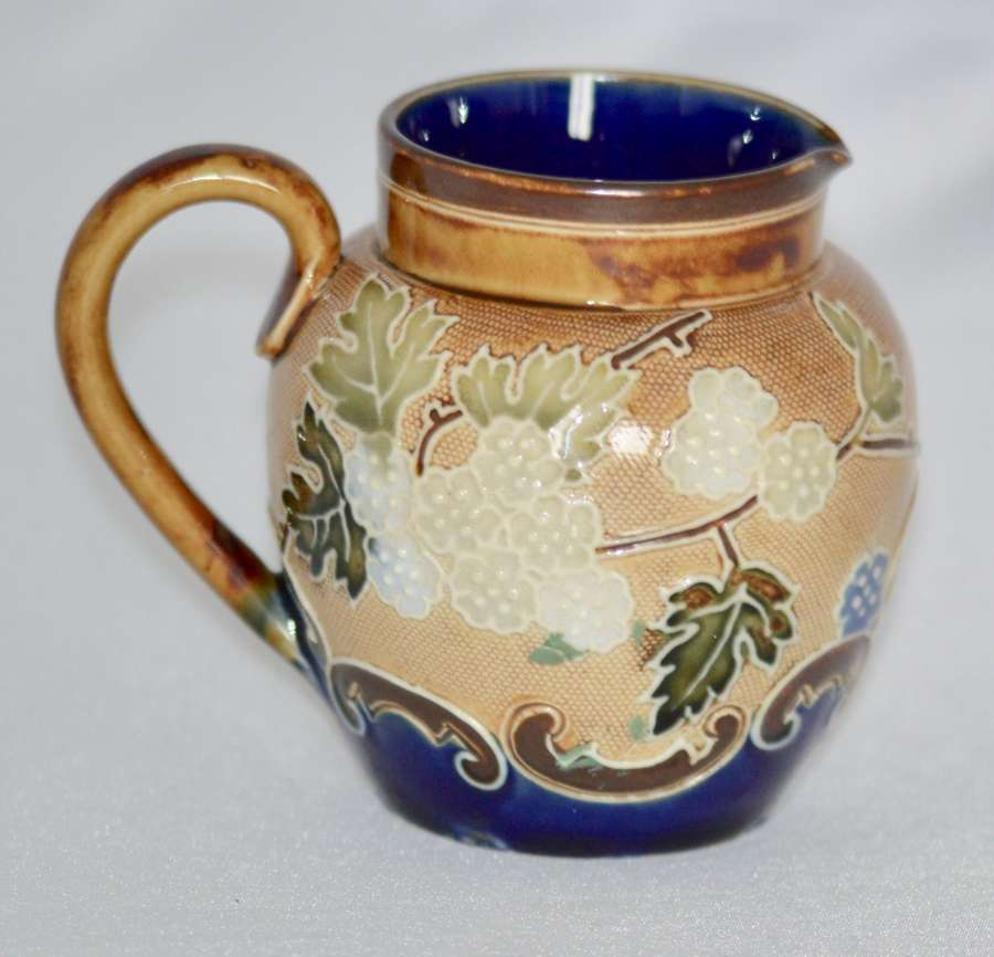 C1895 - Royal Doulton - Lambeth Stoneware Jug - Slaters Floral Design