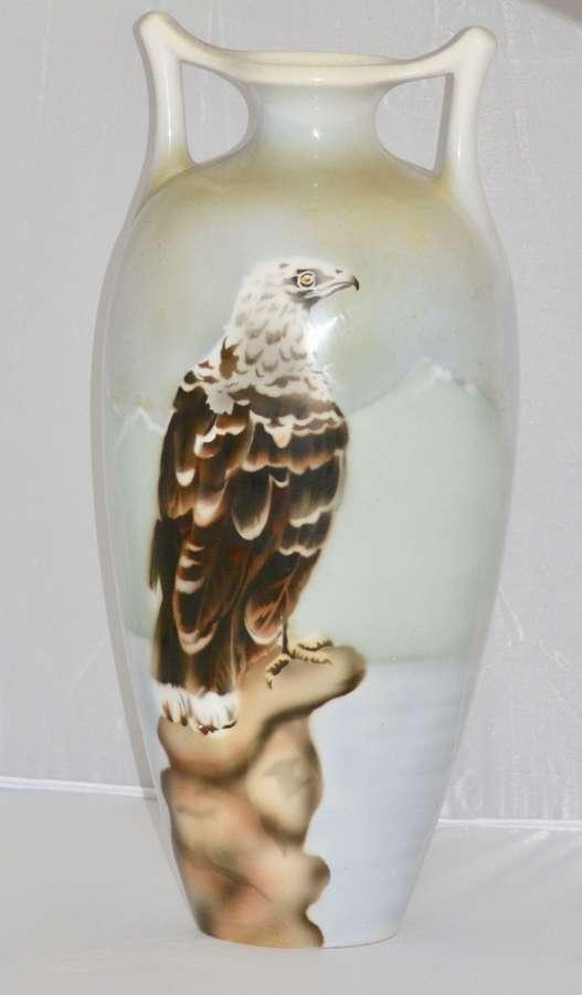 Art Deco Bird of Pray Ceramic Vase - Maestricht Holland, 1920/30's