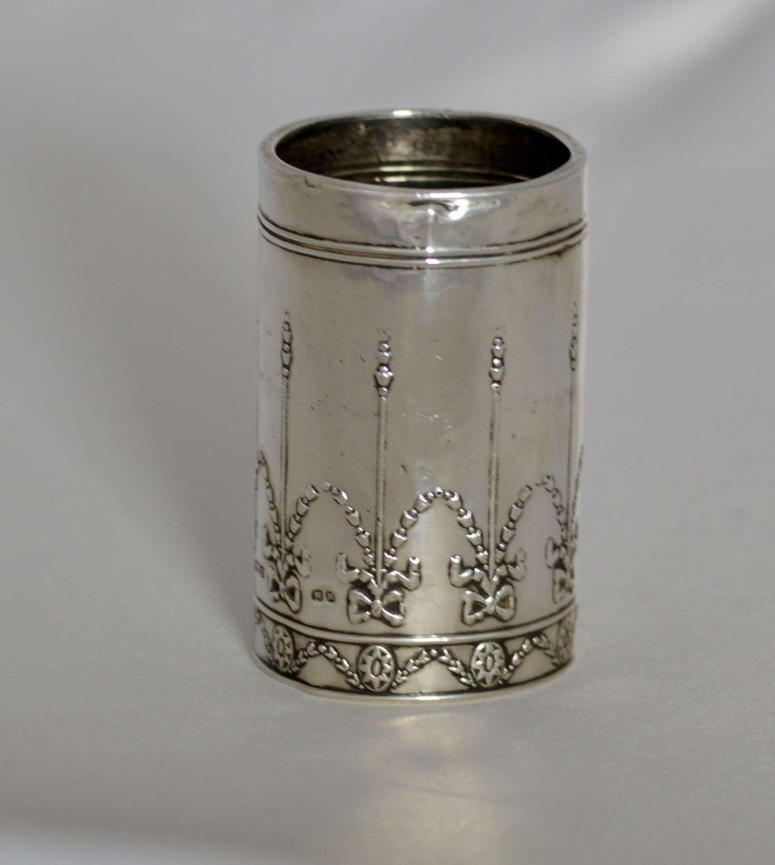 912 Art Nouveau Solid Silver Perfume holder Henry Matthews, Birmingham