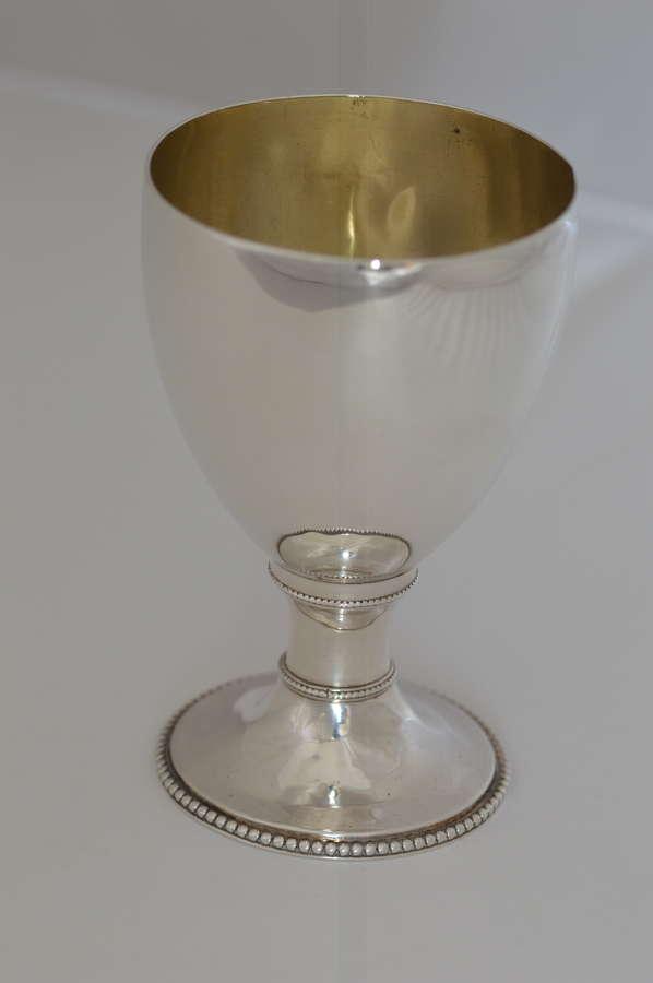 1781 - Georgian - Sterling Silver Goblet by London's Walter Tweedie