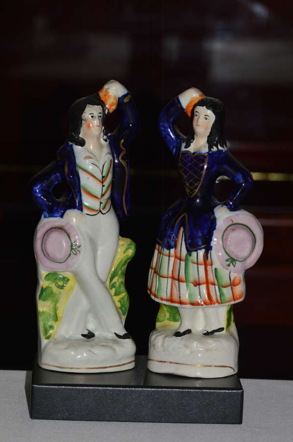 An Attractive Pair of Staffordshire Figures of Village Dancers - C1860