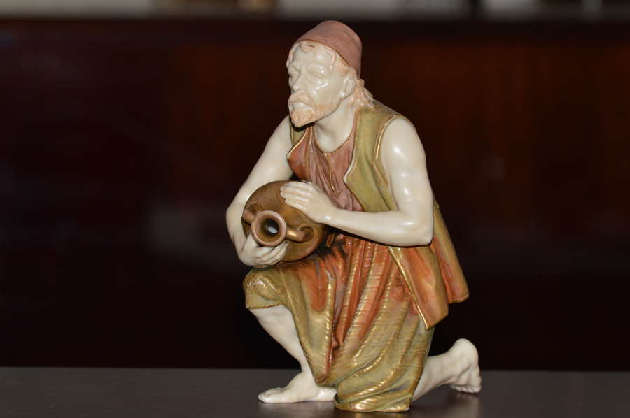 A Rare 19th Century Royal Worcester Blush Ivory Figure