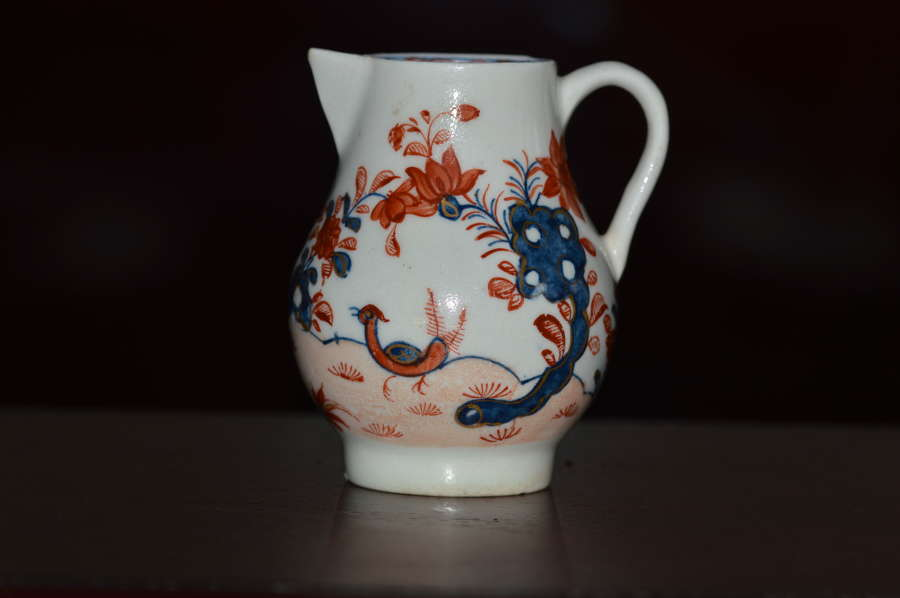 Lowestoft - Sparrow-beak Jug - c1757-1802 'Two Birds Pattern'