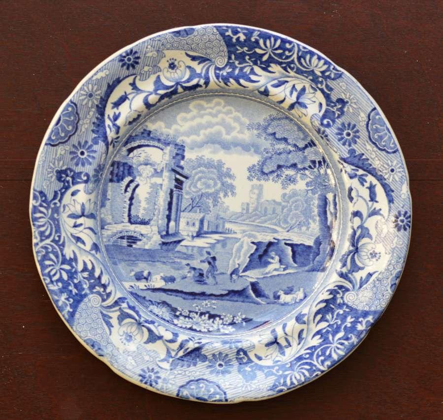 Zachariah Boyle - Italian Plate - c1828 -1850 - Blue and White