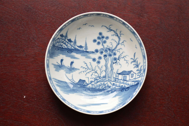 18th Century Worcester Porcelain 'Rock Strata' Pattern Saucer