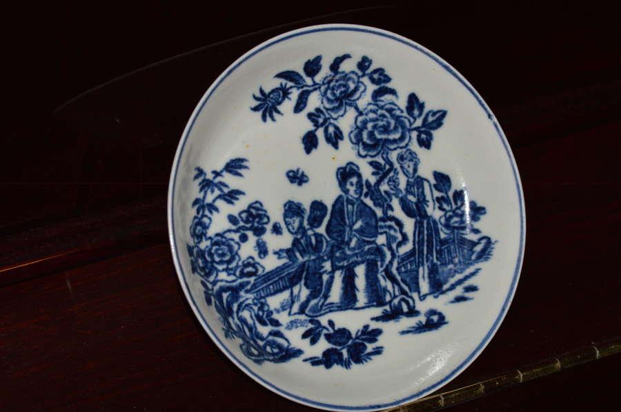 1770-80 - Philip Christian  - Liverpool Saucer 'Three Ladies' Pattern