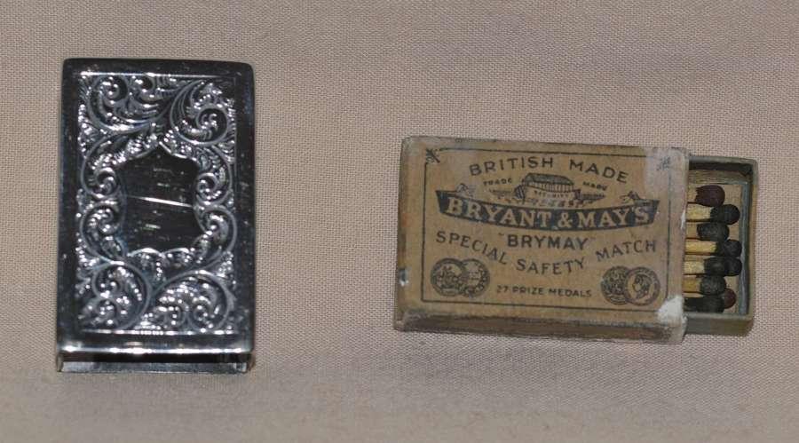 1900 Silver Matchbox Holder by Deakin & Francis Ltd