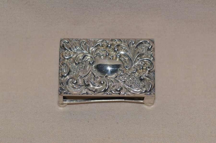 C1900-10 Solid Silver Matchbox Holder by Adie & Lovekin Ltd