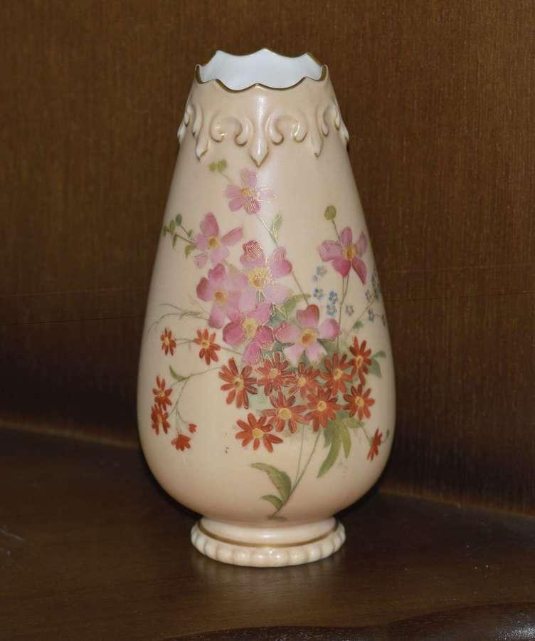 Grainger & Co. Royal China Works Worcester Floral Vase 1890