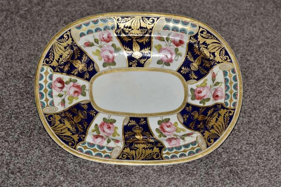 19th Century Stevenson and Hancock Derby Rounded Rectangular Dish
