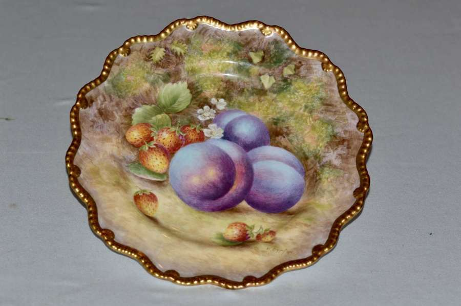 1949 Royal Worcester Hand Painted Plate Signed H Ayrton