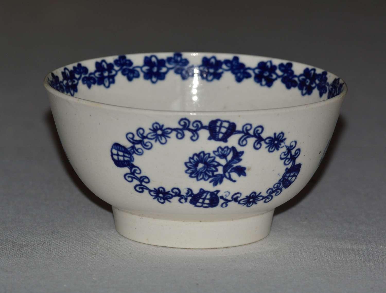 18th Century Liverpool John Pennington Porcelain Bowl - Bud and Flower