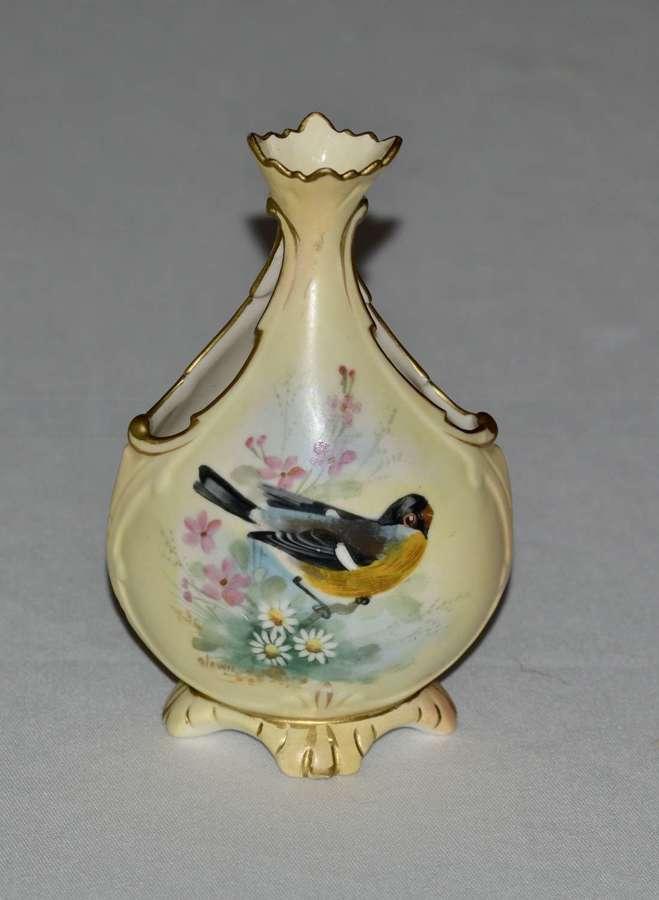 Locke & Co Worcester Vase C1898 /1902 - Signed Lewis
